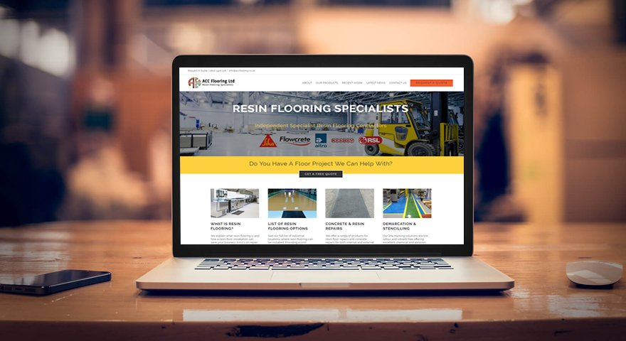 web design layout for ACC Flooring
