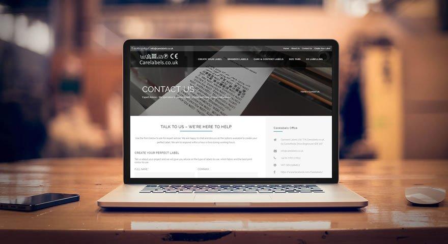 web design for carelabels